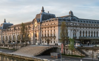 Musee d'Orsay, North-West view, Paris 7e